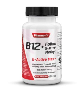 B12 500mcg + FOLIAN 5-MTHF METHYL 120 KAPS Pharmovit
