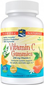 Witamina C Gummies, 250mg Tangerine - 120 gummies Nordic Naturals