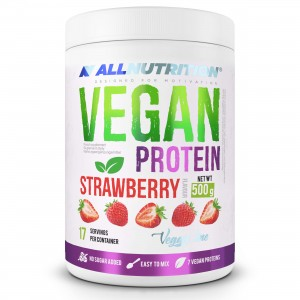 VEGAN PROTEIN 500 g STRAWBERRY ALLNUTRITION