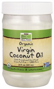 Virgin Coconut Cooking Oil Organic - 100% Pure - 591 ml. Nowfoods