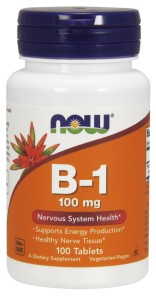 Now Foods Witamina B-1, 100 mg, 100 tabletek Nowfoods