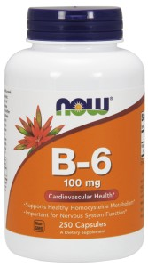 Now Foods, Witamina B-6, 100 mg, 250 kapsułek Nowfoods